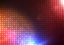 Abstract Background. Vector illustration of disco lights dots pattern on red background Stock Images