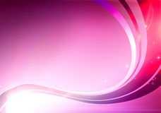 Abstract Background. Vector illustration of pink abstract background made of light splashes and curved lines Royalty Free Stock Image