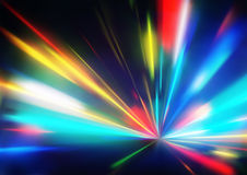 Abstract Background. Vector illustration of abstract background with blurred magic neon color light rays Stock Illustration