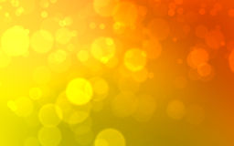Abstract background. Of orange and yellow bokeh effect Stock Photo