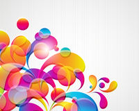 Abstract background. Abstract background with bright elements. Illustration for your design Royalty Free Stock Images
