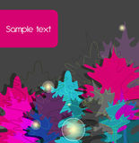 Abstract background. Bright background with multicolor leafs stock illustration