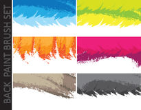 Abstract Background. Background with colorful brush paint on a white. Vector illustration Stock Images