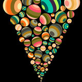 Abstract background. Of stripped colorful balls Stock Photos
