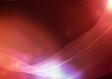 Abstract Background. Vector illustration of red abstract background made of light splashes and curved lines Stock Photography