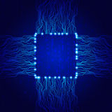 Abstract background. Technology theme background with space for text Royalty Free Stock Photo
