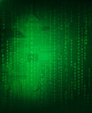 Abstract background. Technology theme background with digital code and circuit pattern Stock Photos