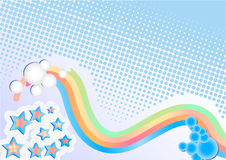 Abstract background. With rainbow and stars Royalty Free Stock Image