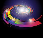 Abstract background. Colorful spiral illustration Royalty Free Stock Photos