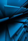 Abstract background. With blue blocks royalty free illustration