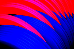 Abstract Background 2. Macro of pink and blue Slinky interlocked Royalty Free Stock Images
