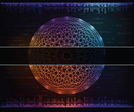 Abstract background. Modern technology theme  background with banner for text. eps10 Royalty Free Stock Photo