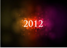 Abstract Background 2012. Abstraction with bright circles against a dark background 2012 Royalty Free Stock Images