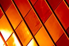 Abstract Background. Golden and red glass pattern abstract background Royalty Free Stock Photography