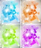 Abstract Background. Intensive colors background - abstract Vector set Royalty Free Illustration