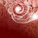 Abstract background. With spirals and floral elements Royalty Free Stock Photography