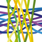 Abstract background. Abstract illustration with colored stripes stock illustration