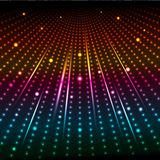 Abstract background. Of coloured glowing lights Vector Illustration
