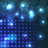 Abstract background. With halftone and lights Royalty Free Stock Photography