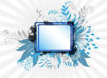 Abstract Background. With blue leafs Stock Image