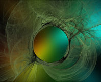 Abstract Background. With a circular pattern stock illustration
