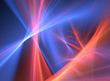 Abstract background. Fractal rendering of colorful lines and curves Stock Images