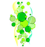 Abstract background. With green circles Stock Photography