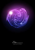 Abstract background. Abstract pink and purple metal on black background Stock Photography