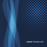 Abstract Background. Blue Abstract Background with Blue Dots and Waves Design Stock Photos