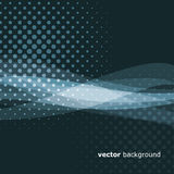 Abstract Background. Blue Abstract Background with Dots and Waves Design Royalty Free Stock Image