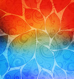 Abstract background. With stylized leaves . eps10 Stock Image