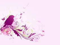 Abstract background. Abstract vector background with bird and floral ornament Stock Illustration