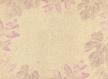 Abstract background. Autumn background like paper texture with leaves Royalty Free Stock Photo