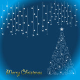Abstract background. In christmas tree Royalty Free Stock Images