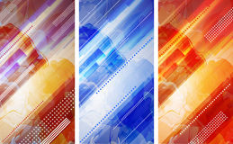 Abstract background. Colorful abstract banners with rays of light and clouds Royalty Free Stock Images