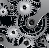 Abstract background. With metallic gears Royalty Free Illustration