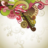 Abstract background. With swirls and flowers royalty free illustration