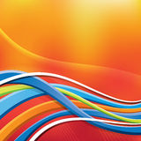 Abstract Background. An abstract illustration of a wavy background with lines Stock Image