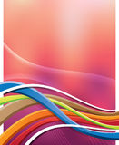 Abstract Background. An abstract illustration of a wavy background with lines Royalty Free Stock Photography