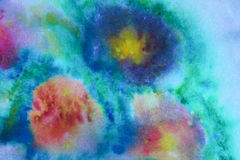 Abstract background. Abstract acrylic background with watercolor splashes Stock Image