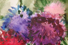 Abstract background. Abstract acrylic background with watercolor splashes Stock Photography