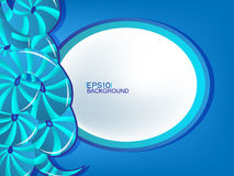 Abstract background. Background with abstract blue shape Stock Photos