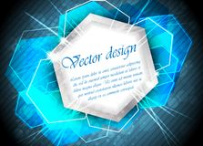 Abstract background. In blue color royalty free illustration