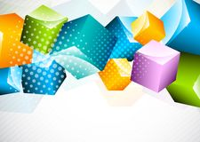 Abstract background. Abstract backgrond with colorful cubes Royalty Free Stock Photography