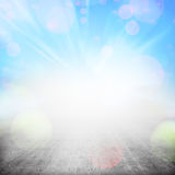 Abstract background. Rays of light over wooden wharf Royalty Free Illustration