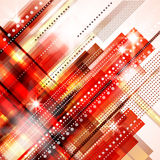 Abstract background. In red colour with lights Royalty Free Stock Image