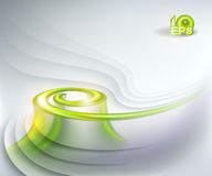 Abstract background. With green swirl Royalty Free Stock Image