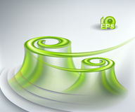 Abstract background. With green swirls stock illustration