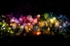 Abstract background. Abstract color blurs on dark background stock illustration