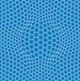 Abstract background. Illustration of a abstract background with hexagons Stock Photography